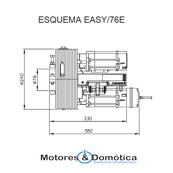 motor puerta enrollable EASY76E